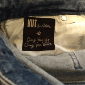 Kut from the Kloth Jeans - Kut From the Cloth Distressed Flares Jeans 10